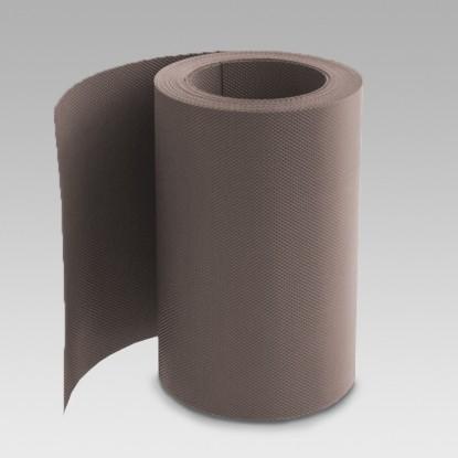 Лента газонная (бордюрная); 0,16 см/900 см/10 см, коричневая