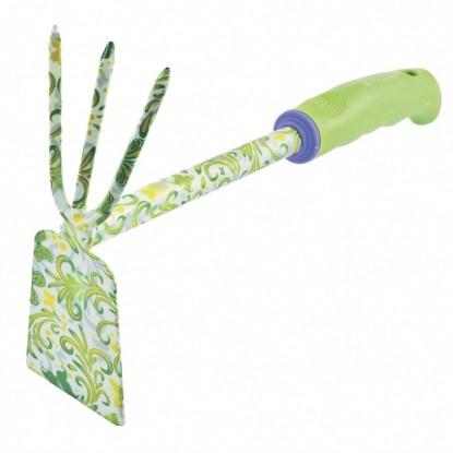 Мотыжка комбинированная, 70х300 мм, стальная, пластиковая рукоятка, FLOWER GREEN// Palisad