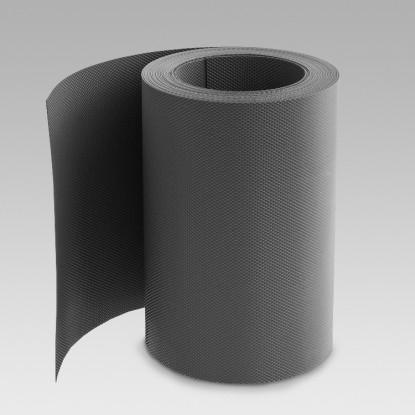 Лента газонная (бордюрная); 0,16 см/900 см/10 см, черная