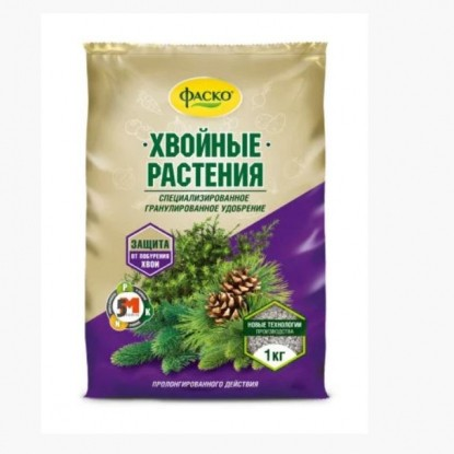 Удобрение сухое Фаско 5М минерал. для Хвойных растений гранулированное 1 кг.