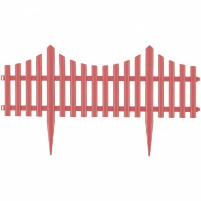 "Забор декоративный ""Гибкий"", 24х300 см, коралловый, Россия// Palisad"