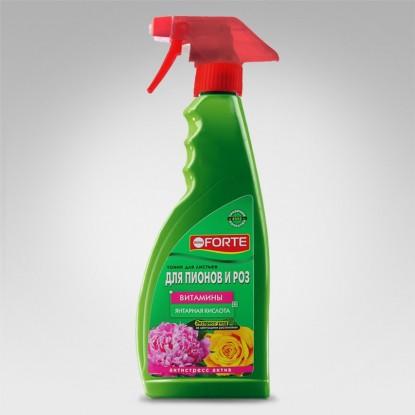 Bona Forte Спрей тоник для роз, пионов и цветущих растений, флакон 500 мл