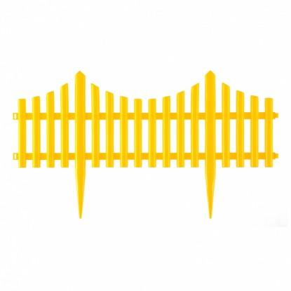 "Забор декоративный ""Гибкий"", 24х300 см, желтый, Россия// Palisad"